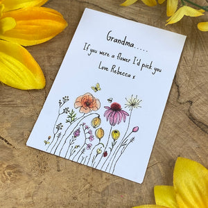 Grandma If You Were A Flower Mini Envelope with Wildflower Seeds-3-The Persnickety Co