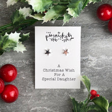 Load image into Gallery viewer, A Christmas Wish For A Special Daughter - Star Earrings-4-The Persnickety Co