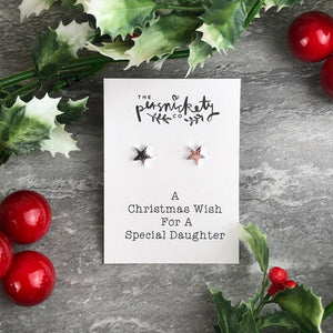 A Christmas Wish For A Special Daughter - Star Earrings-4-The Persnickety Co