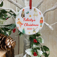 Load image into Gallery viewer, Nutcracker Babies 1st Christmas Hanging Decoration-The Persnickety Co