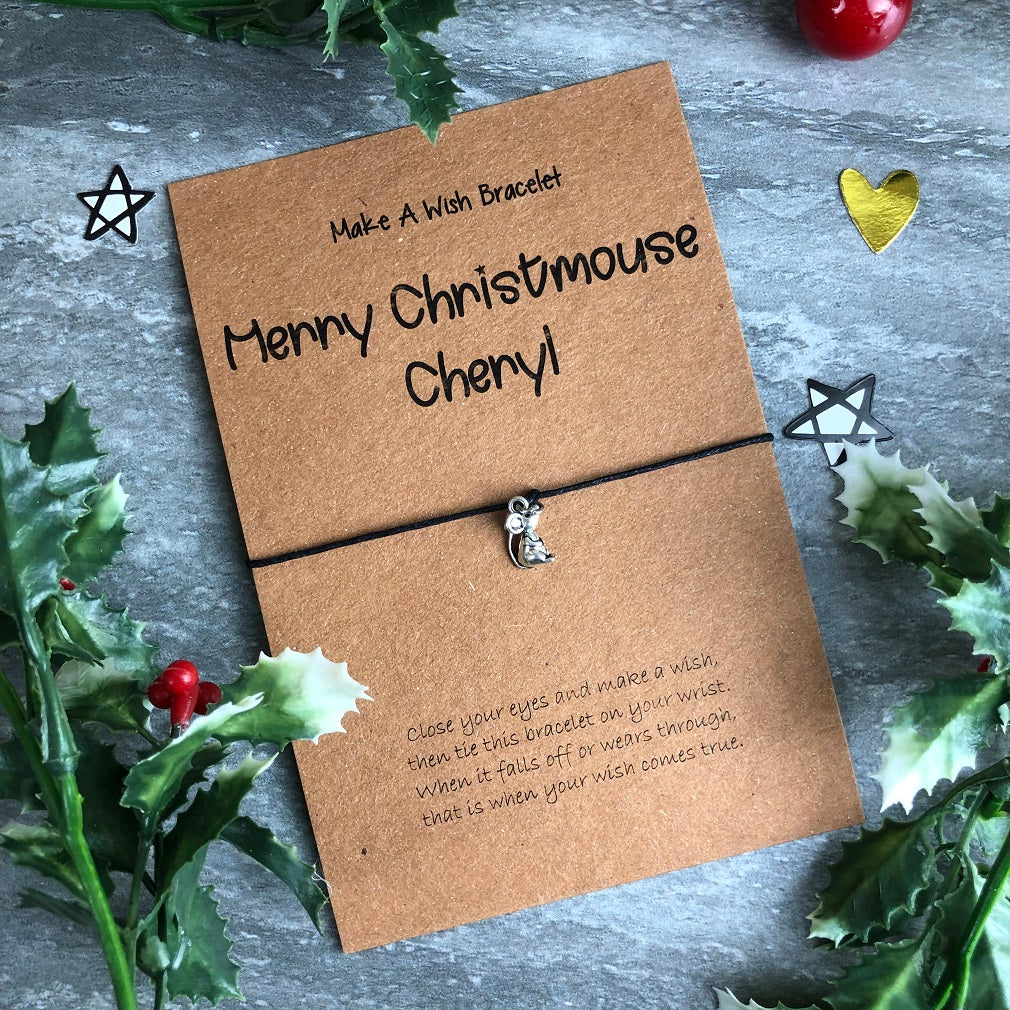 Merry Christmouse Wish Bracelet-The Persnickety Co