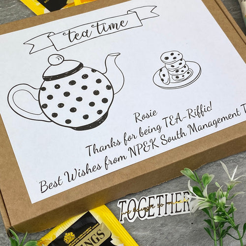 Tea-Riffc Personalised Tea and Biscuit Box-The Persnickety Co