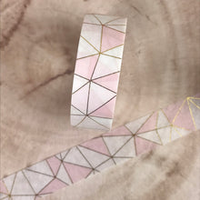 Load image into Gallery viewer, Pink Geometric Washi Tape-5-The Persnickety Co