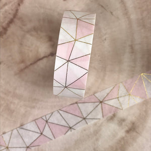 Pink Geometric Washi Tape-5-The Persnickety Co
