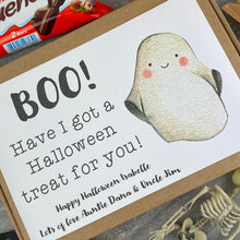 Load image into Gallery viewer, BOO Personalised Halloween Kinder Bueno Box