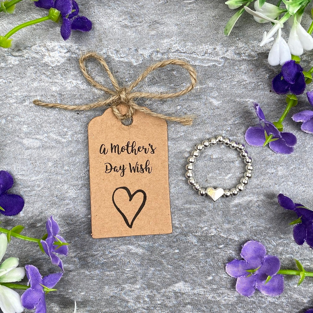 A Mother's Day Wish - Beaded Ring-The Persnickety Co