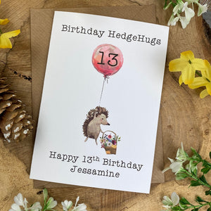 Birthday Hedgehugs - Personalised Card-4-The Persnickety Co