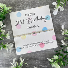 Load image into Gallery viewer, Happy 21st Birthday Beaded Bracelet-3-The Persnickety Co