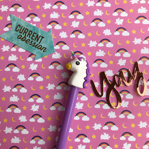 Bright Unicorn Gel Pen-6-The Persnickety Co