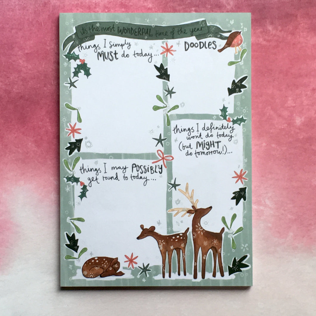 Winter Wonderland A5 Notepad-The Persnickety Co