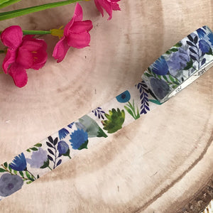 Blue Floral Washi Tape-4-The Persnickety Co