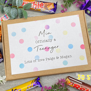 Officially A Teenager Personalised Chocolate Box-4-The Persnickety Co