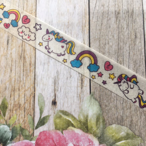 Happy Unicorn and Rainbows Washi Tape-2-The Persnickety Co
