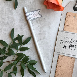 East Of India Best Teacher Flag Pencil-The Persnickety Co