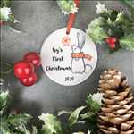 Load image into Gallery viewer, Personalised First Christmas Hanging Decoration-2-The Persnickety Co
