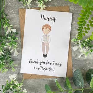 Thank You For Being Our Pageboy Card-5-The Persnickety Co