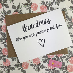 Mother's Day Card Grandmas Like You Are Precious And Few-6-The Persnickety Co