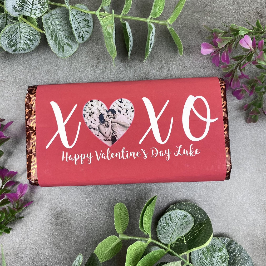 Personalised Love Heart Valentines Day Chocolate Bar-The Persnickety Co