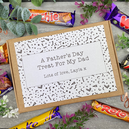 A Father's Day Treat - Personalised Chocolate Box-The Persnickety Co