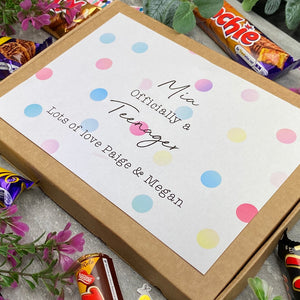 Officially A Teenager Personalised Chocolate Box-6-The Persnickety Co