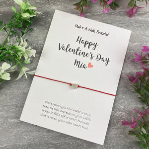 Happy Valentine's Day Personalised Wish Bracelet-6-The Persnickety Co