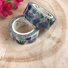 Load image into Gallery viewer, Blue Floral Washi Tape-2-The Persnickety Co