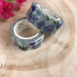 Blue Floral Washi Tape-2-The Persnickety Co