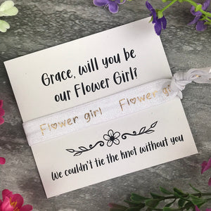 Flower Girl Proposal Hair Tie / Wrist Band-4-The Persnickety Co
