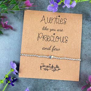 Aunties Like You Are Precious And Few Beaded Bracelet-4-The Persnickety Co