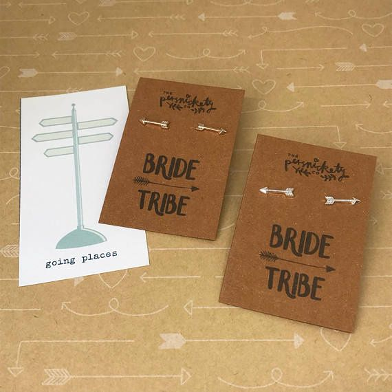 Bride Tribe Arrow Earrings-The Persnickety Co