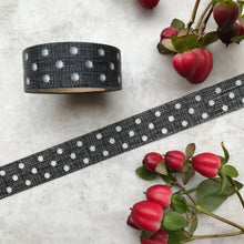 Load image into Gallery viewer, Black and White Polka Dot Washi Tape-2-The Persnickety Co