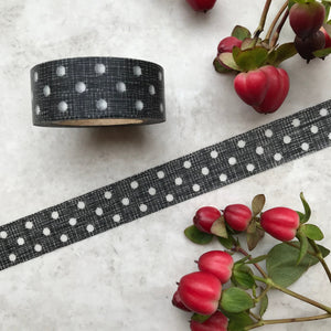 Black and White Polka Dot Washi Tape-2-The Persnickety Co