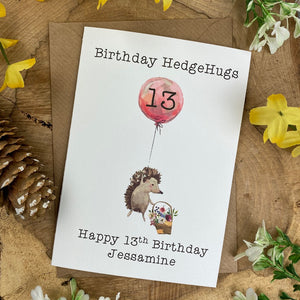 Birthday Hedgehugs - Personalised Card-7-The Persnickety Co