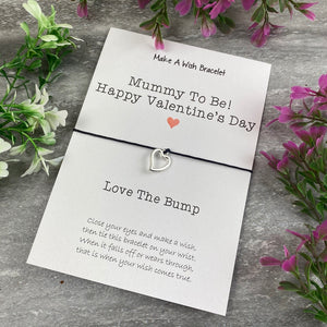 Mummy To Be Happy Valentine's Day Wish Bracelet-3-The Persnickety Co