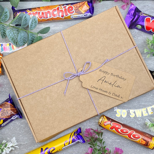 Personalised Birthday Chocolate Box With Tag-The Persnickety Co
