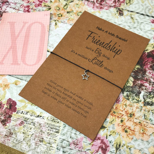 Friendship Isn't A Big Thing, It's A Million Little Things Wish Bracelet-The Persnickety Co