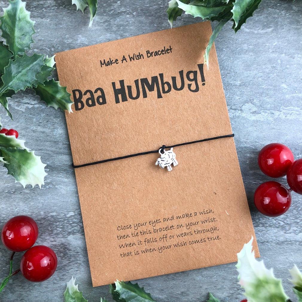 Baa Humbug Wish Bracelet-The Persnickety Co