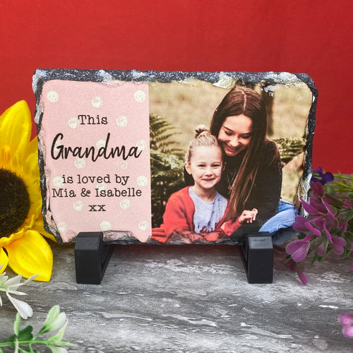 Personalised Slate Photo Print-The Persnickety Co