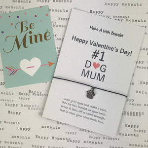Happy Valentine's Day No. 1 Dog Mum Wish Bracelet-8-The Persnickety Co