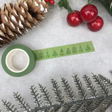 Load image into Gallery viewer, Green Christmas Tree Washi Tape
