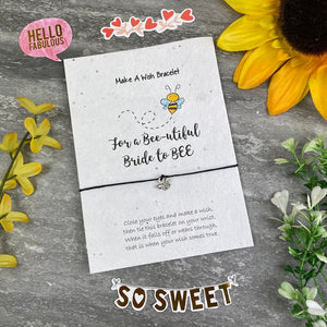 Bride To Bee Wish Bracelet On Plantable Seed Card-8-The Persnickety Co