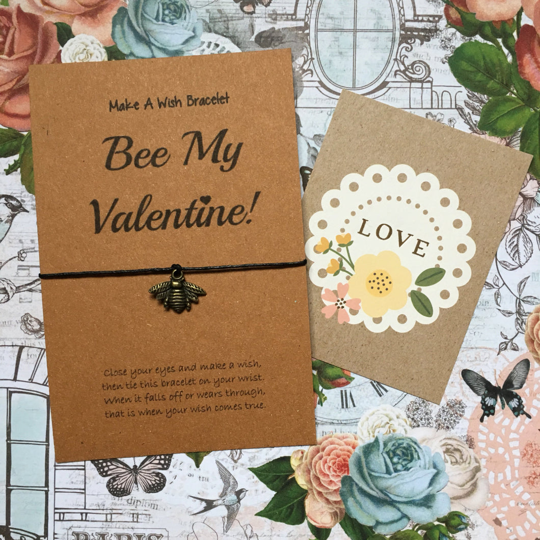 Bee My Valentine Wish Bracelet-The Persnickety Co