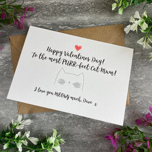 Happy Valentine's Day To The Most PURR-fect Cat Mum/Cat Dad Card-The Persnickety Co