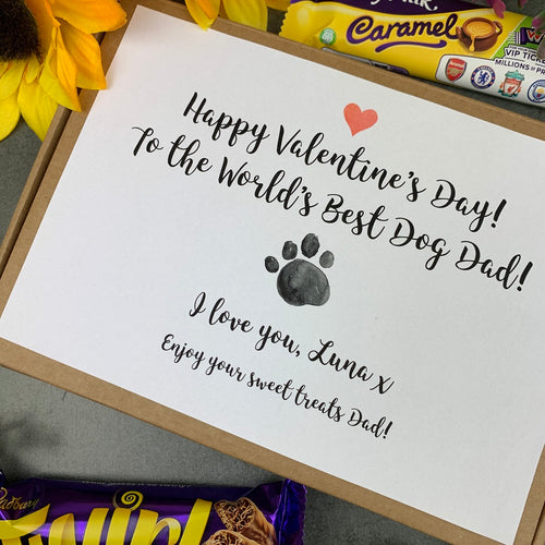 Personalised Dog Dad Valentine's Day Chocolate Box-The Persnickety Co
