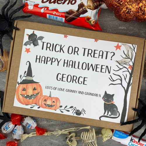 Trick Or Treat Personalised Halloween Kinder Bueno Box-The Persnickety Co