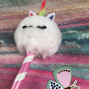 Fluffy Unicorn Pencil-8-The Persnickety Co