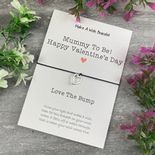 Load image into Gallery viewer, Mummy To Be Happy Valentine's Day Wish Bracelet-2-The Persnickety Co