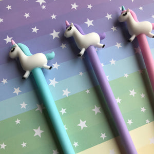 Pastel Unicorn Gel Pen-5-The Persnickety Co