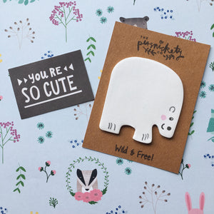 Wild Animal Sticky Note-4-The Persnickety Co