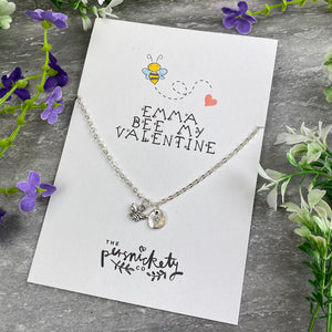 Bee My Valentine Necklace-4-The Persnickety Co